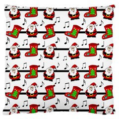 Xmas Song Pattern Standard Flano Cushion Case (two Sides) by Valentinaart