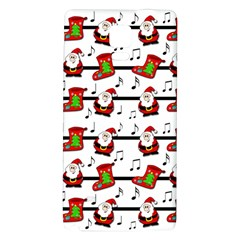 Xmas Song Pattern Galaxy Note 4 Back Case by Valentinaart