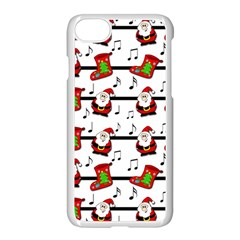 Xmas Song Pattern Apple Iphone 7 Seamless Case (white) by Valentinaart