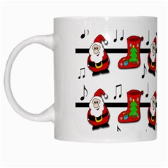 Xmas Song Pattern White Mugs by Valentinaart