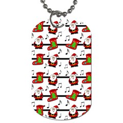 Xmas Song Pattern Dog Tag (one Side) by Valentinaart