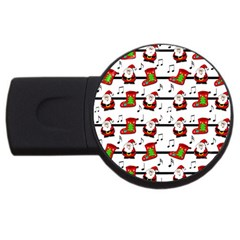 Xmas Song Pattern Usb Flash Drive Round (2 Gb)  by Valentinaart