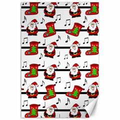 Xmas Song Pattern Canvas 24  X 36  by Valentinaart