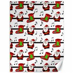 Xmas song pattern Canvas 36  x 48   48 x36 Canvas - 1