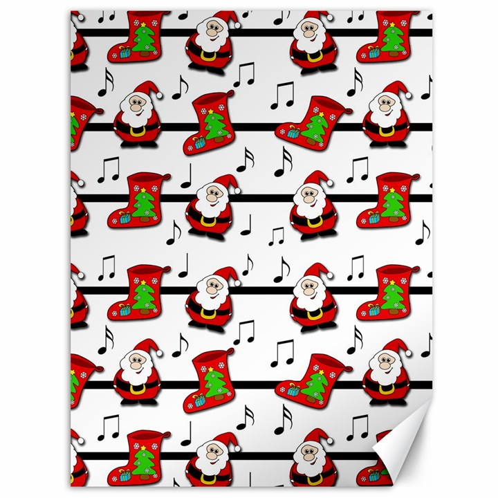 Xmas song pattern Canvas 36  x 48