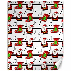 Xmas Song Pattern Canvas 11  X 14   by Valentinaart