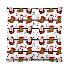 Xmas Song Pattern Standard Cushion Case (two Sides) by Valentinaart