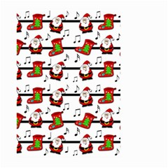 Xmas Song Pattern Large Garden Flag (two Sides) by Valentinaart