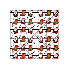 Xmas Song Pattern Acrylic Tangram Puzzle (4  X 4 ) by Valentinaart