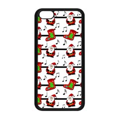 Xmas Song Pattern Apple Iphone 5c Seamless Case (black) by Valentinaart