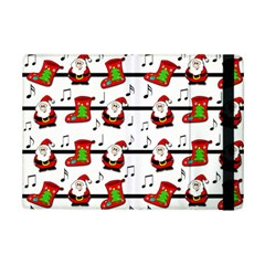 Xmas Song Pattern Ipad Mini 2 Flip Cases by Valentinaart