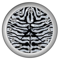 Skin2 Black Marble & Gray Marble (r) Wall Clock (silver) by trendistuff