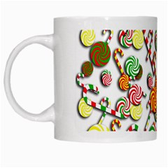 Xmas Candy Pattern White Mugs by Valentinaart