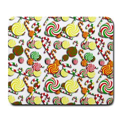 Xmas Candy Pattern Large Mousepads by Valentinaart