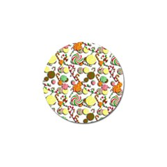 Xmas Candy Pattern Golf Ball Marker (4 Pack) by Valentinaart