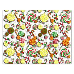 Xmas Candy Pattern Rectangular Jigsaw Puzzl by Valentinaart