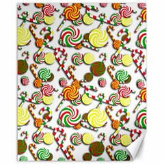 Xmas Candy Pattern Canvas 16  X 20   by Valentinaart