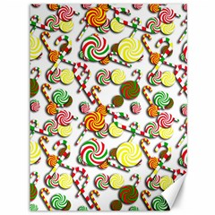 Xmas Candy Pattern Canvas 36  X 48   by Valentinaart