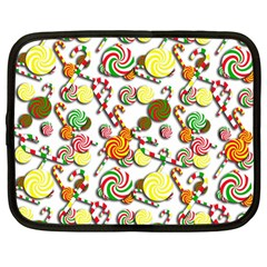 Xmas Candy Pattern Netbook Case (large)