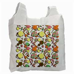 Xmas Candy Pattern Recycle Bag (one Side) by Valentinaart