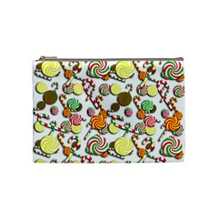 Xmas Candy Pattern Cosmetic Bag (medium)  by Valentinaart
