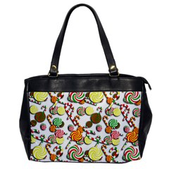 Xmas Candy Pattern Office Handbags by Valentinaart