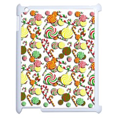 Xmas Candy Pattern Apple Ipad 2 Case (white) by Valentinaart