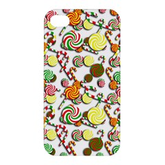 Xmas Candy Pattern Apple Iphone 4/4s Premium Hardshell Case by Valentinaart