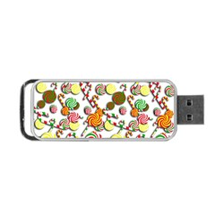 Xmas Candy Pattern Portable Usb Flash (two Sides) by Valentinaart