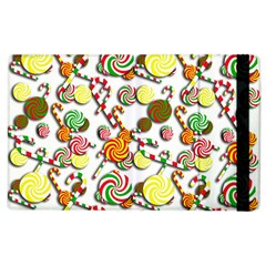 Xmas Candy Pattern Apple Ipad 2 Flip Case