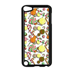 Xmas Candy Pattern Apple Ipod Touch 5 Case (black) by Valentinaart