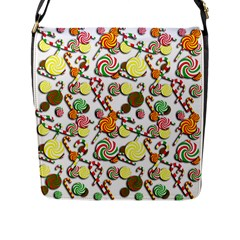 Xmas Candy Pattern Flap Messenger Bag (l)  by Valentinaart