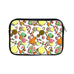 Xmas Candy Pattern Apple Ipad Mini Zipper Cases by Valentinaart
