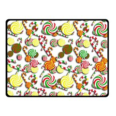 Xmas Candy Pattern Double Sided Fleece Blanket (small)  by Valentinaart