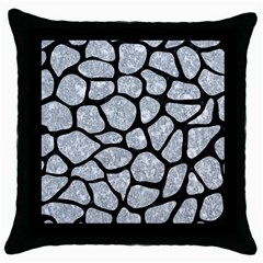 Skin1 Black Marble & Gray Marble Throw Pillow Case (black) by trendistuff