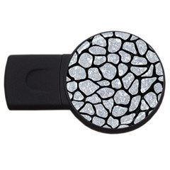 Skin1 Black Marble & Gray Marble Usb Flash Drive Round (4 Gb) by trendistuff