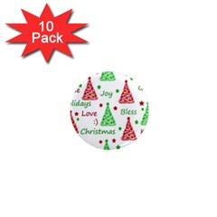 New Year Pattern 1  Mini Magnet (10 Pack)  by Valentinaart