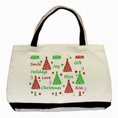 New Year Pattern Basic Tote Bag by Valentinaart