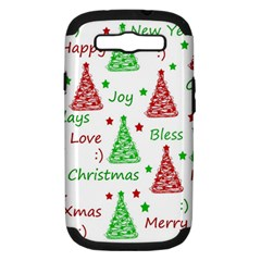 New Year Pattern Samsung Galaxy S Iii Hardshell Case (pc+silicone) by Valentinaart