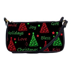 New Year Pattern   Red And Green Shoulder Clutch Bags