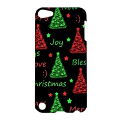New Year Pattern   Red And Green Apple Ipod Touch 5 Hardshell Case by Valentinaart