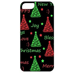 New Year Pattern   Red And Green Apple Iphone 5 Classic Hardshell Case by Valentinaart