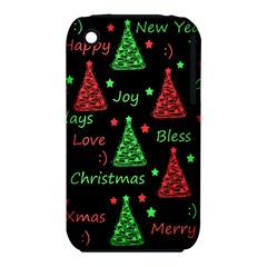 New Year Pattern   Red And Green Iphone 3s/3gs by Valentinaart
