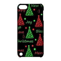 New Year Pattern   Red And Green Apple Ipod Touch 5 Hardshell Case With Stand by Valentinaart