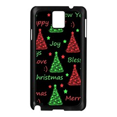 New Year Pattern   Red And Green Samsung Galaxy Note 3 N9005 Case (black) by Valentinaart