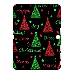 New Year Pattern   Red And Green Samsung Galaxy Tab 4 (10 1 ) Hardshell Case  by Valentinaart