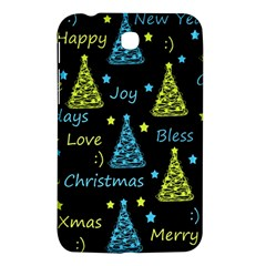 New Year Pattern   Blue And Yellow Samsung Galaxy Tab 3 (7 ) P3200 Hardshell Case  by Valentinaart