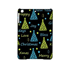 New Year Pattern   Blue And Yellow Ipad Mini 2 Hardshell Cases by Valentinaart