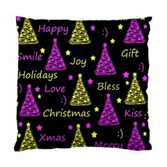 New Year Pattern   Yellow And Purple Standard Cushion Case (one Side) by Valentinaart