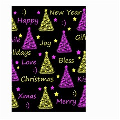 New Year Pattern   Yellow And Purple Large Garden Flag (two Sides) by Valentinaart